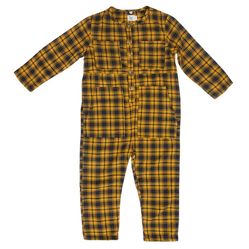 Atticus Jumpsuit, Mustard Plaid