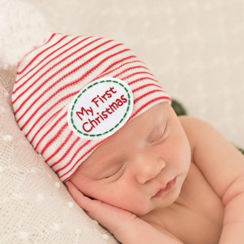 Newborn Pom Hat, My First Christmas