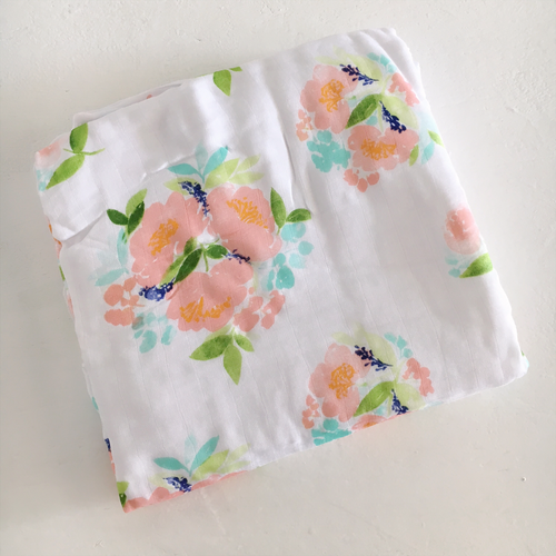 Spring Floral Luxe Muslin Quilt