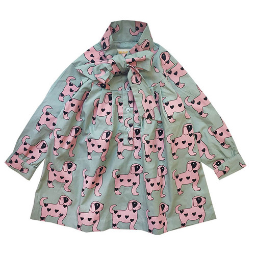 Bow Dress, Pink Dogs