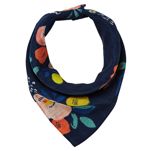 Midnight Blooms Bandana Bib
