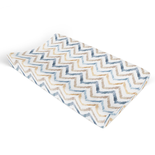 Neutral Watercolor Chevron Changing Pad Cover