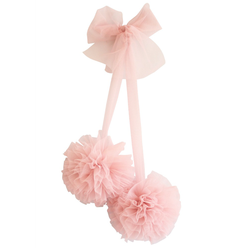Tulle Pom Pom Decor Set, Blush
