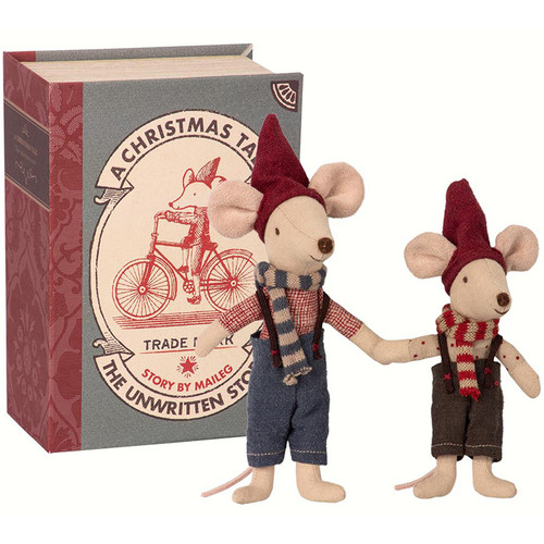 Christmas Mice in a Book