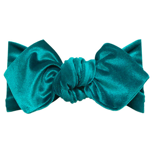 Top Knot Headband, Peacock Velvet