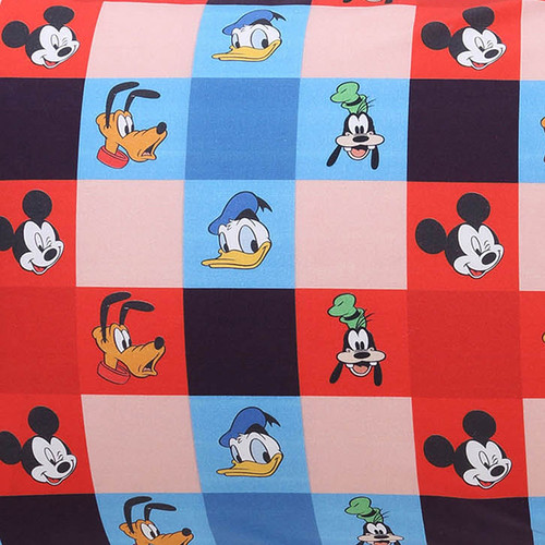Fitted Crib Sheet, Check Mate Mickey