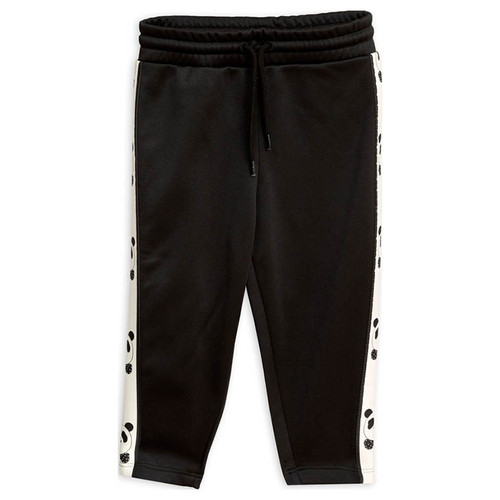 Mini Rodini Panda Pants, Black