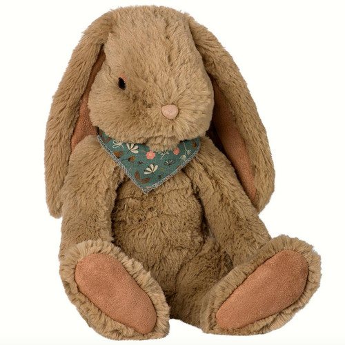 Fluffy Bunny, Brown with Floral Scarf
