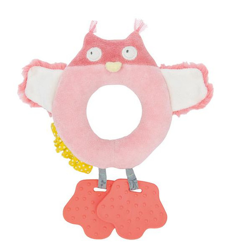 Owl Ring Rattle with Teethers