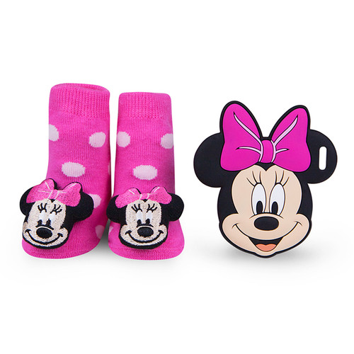 Minnie Mouse Polka Dot Teether Gift Set