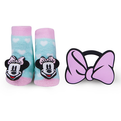 Minnie Mouse Bow Teether Gift Set Spearmint Ventures Llc