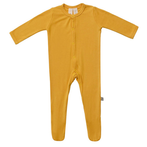 Bamboo Footed Romper, Mustard