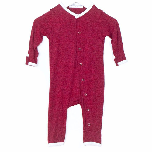 One Piece Snap Romper, Jolly Red