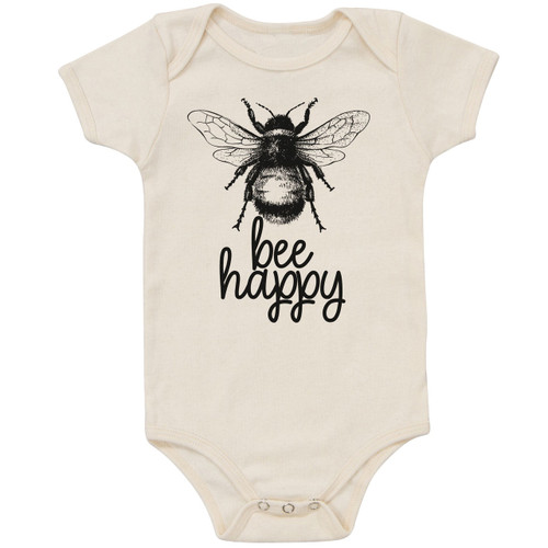 Organic Cotton Bodysuit, Bee Happy