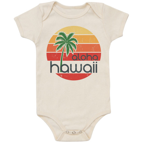 Organic Cotton Bodysuit, Aloha Hawaii