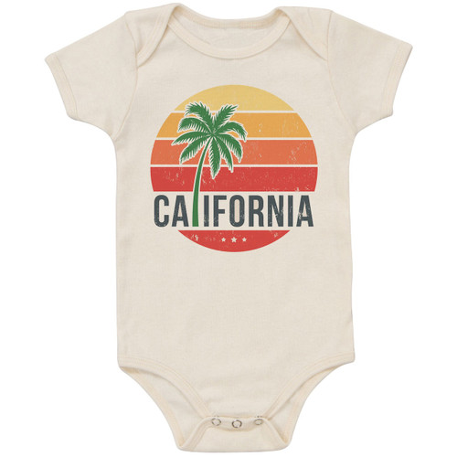 Organic Cotton Bodysuit, California Palm