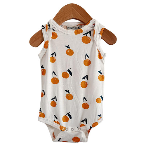 Sleeveless Bodysuit, Oranges