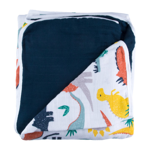 Triple Layer Muslin Blanket, Dinosaur