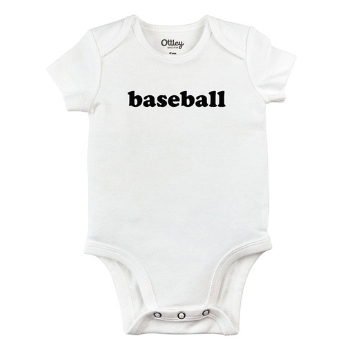 Baseball Bodysuit, White