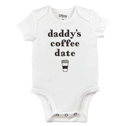 Daddy's Coffee Date Bodysuit, White