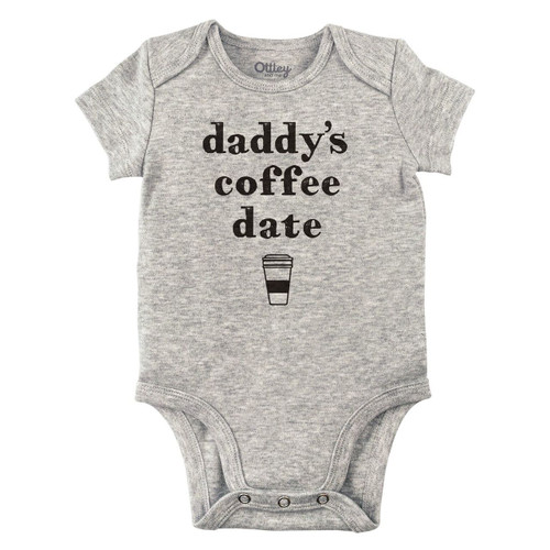 Daddy's Coffee Date Bodysuit, Grey