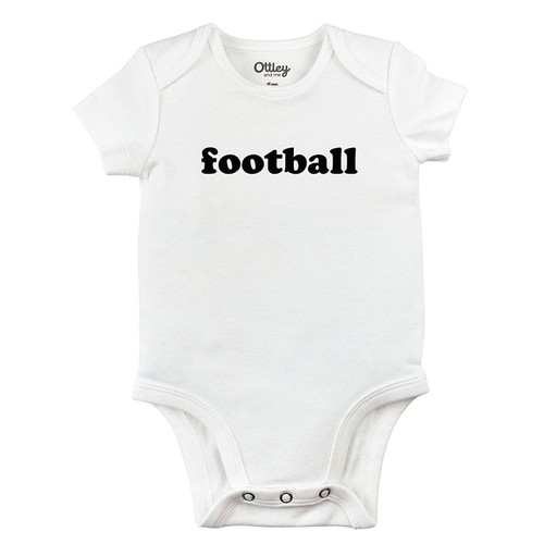 Football Bodysuit, White