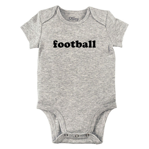 Football Bodysuit, Grey
