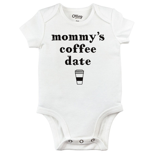 Mommy's Coffee Date Bodysuit, White