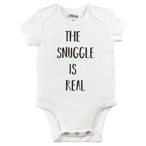 The Snuggle is Real Bodysuit, White