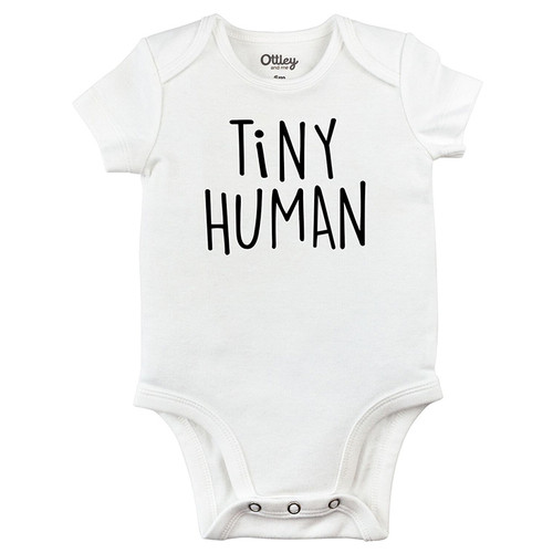 Tiny Human Bodysuit, White