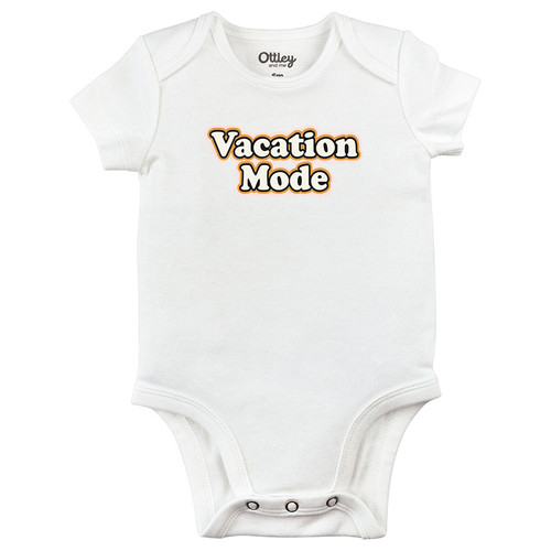 Vacation Mode Bodysuit, White