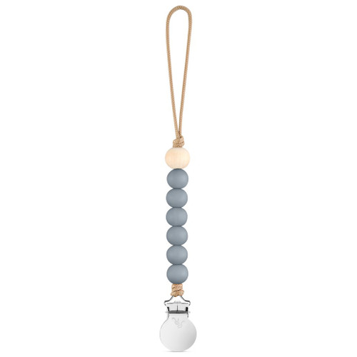 Charley Cutie Pacifier Clip, Charcoal