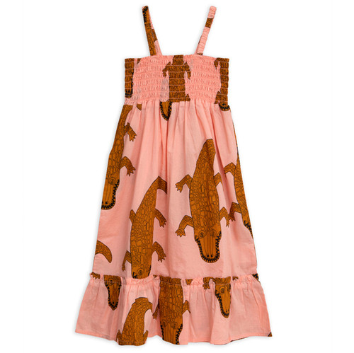 Mini Rodini Crocco Smock Dress, Pink
