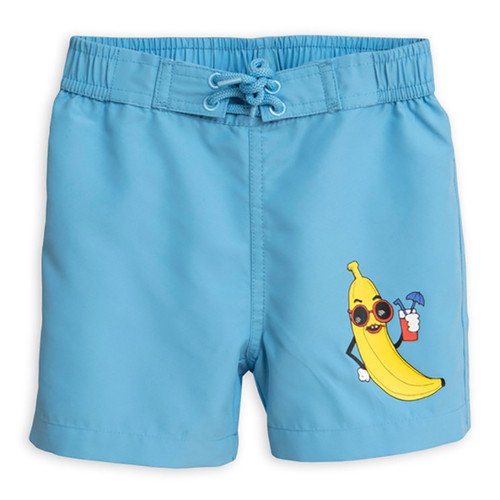 Mini Rodini Banana Swimtrunk, Light Blue