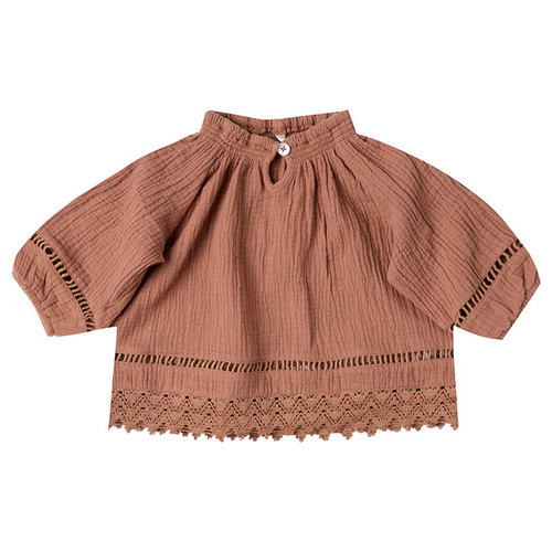 Rylee & Cru Quincy Blouse, Passionfruit