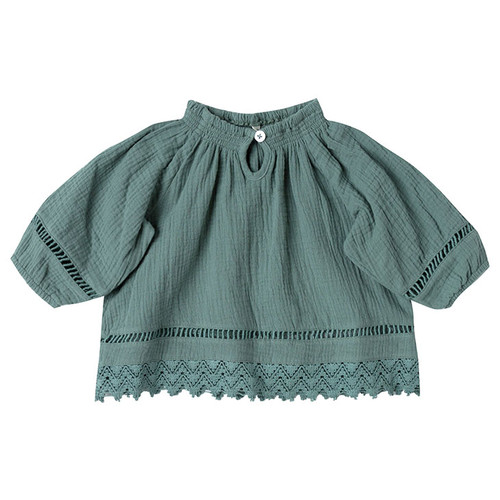 Rylee & Cru Quincy Blouse, Rainforest