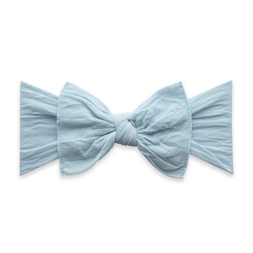 Knot Bow, Chambray