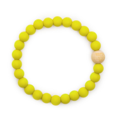 Mom's Teething Bracelet, Chartreuse