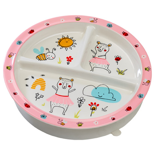 Divided Suction Plate, Clementine Bear