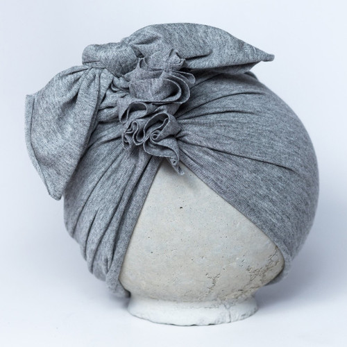 BluTaylor® Ruffle Turban, Heather Grey