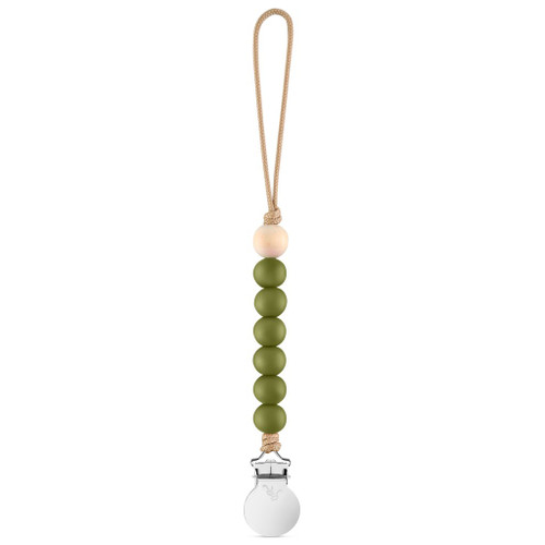 Charley Cutie Pacifier Clip, Army Green
