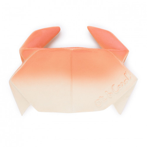 Hevea Teether, H2Origami Orange Crab