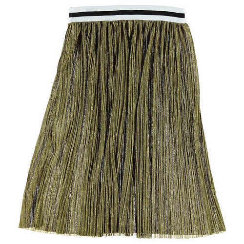Pleated Skirt, Gold