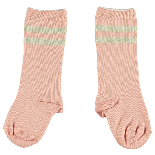 Socks, Salmon/Golden Stripes