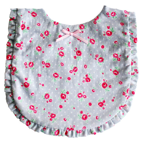 Ruffle Edge Bib, Grey