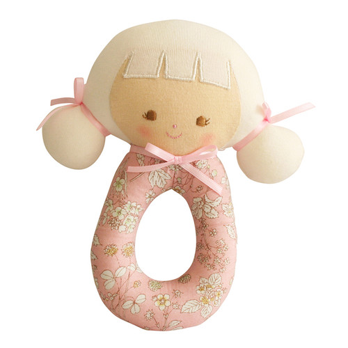 Audrey Grab Rattle, Pink Blossom