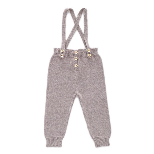 Oeuf Suspender Pants, Light Grey