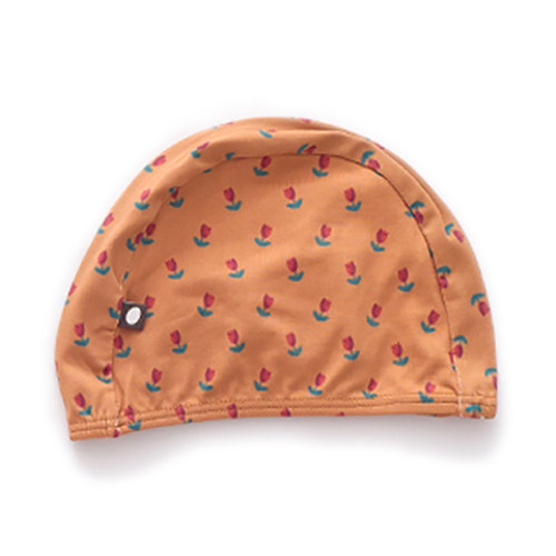 Oeuf Bathing Cap, Ochre/Tulips