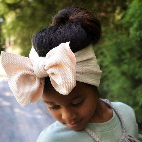 Headwrap Bow, Champagne