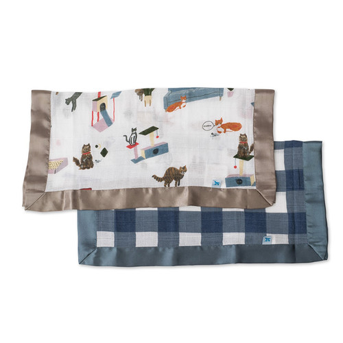 Cats & Jack Plaid Security Blankets, 2-pack